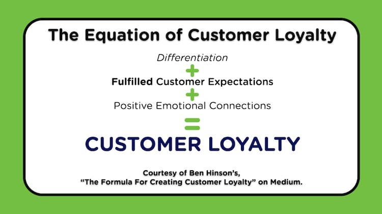 equation of customer loyalty - power of shaping your customer's story